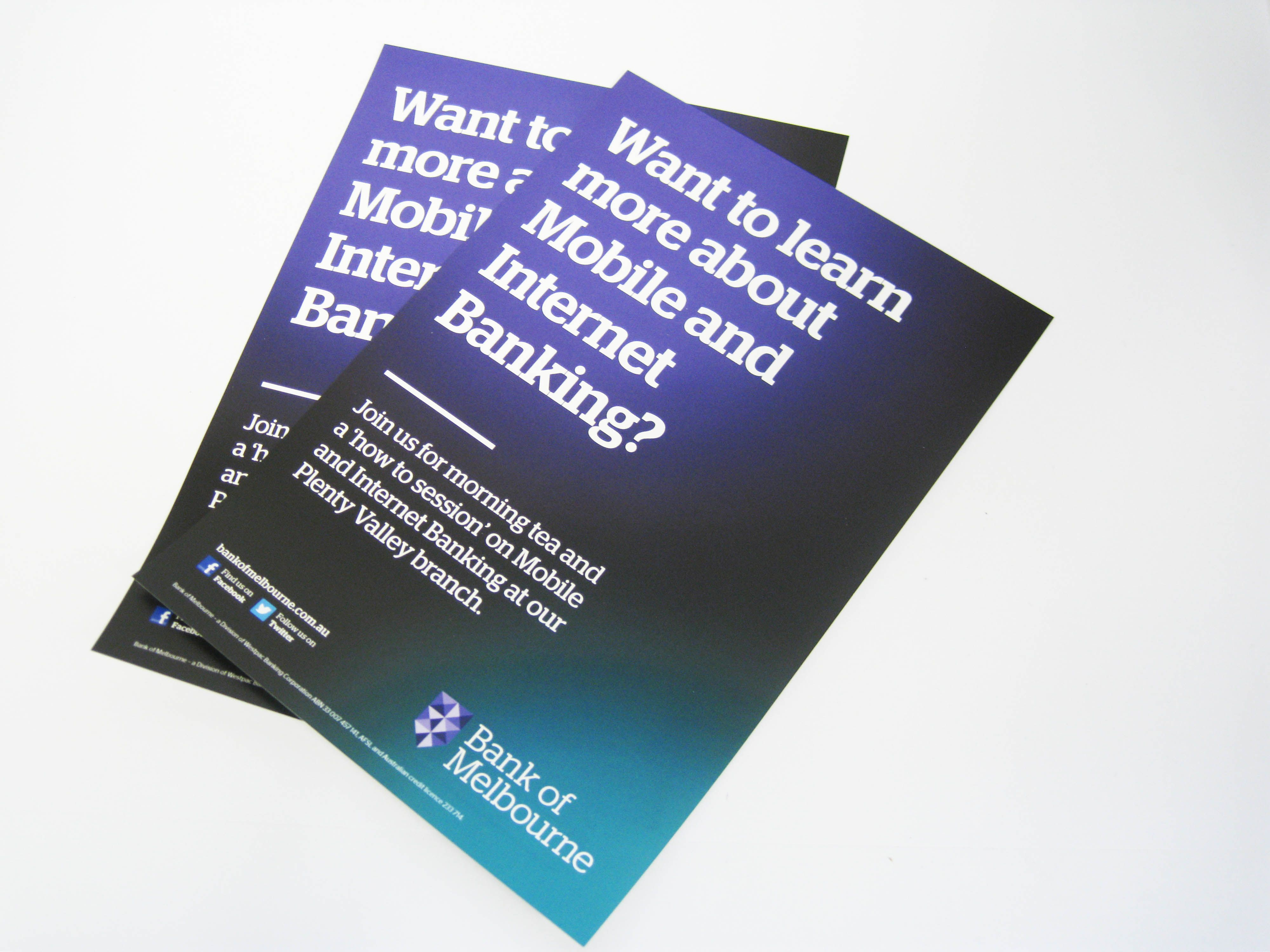 Flyers printed for bank of melbourne bankofmelbourne flyer printing reheart Images