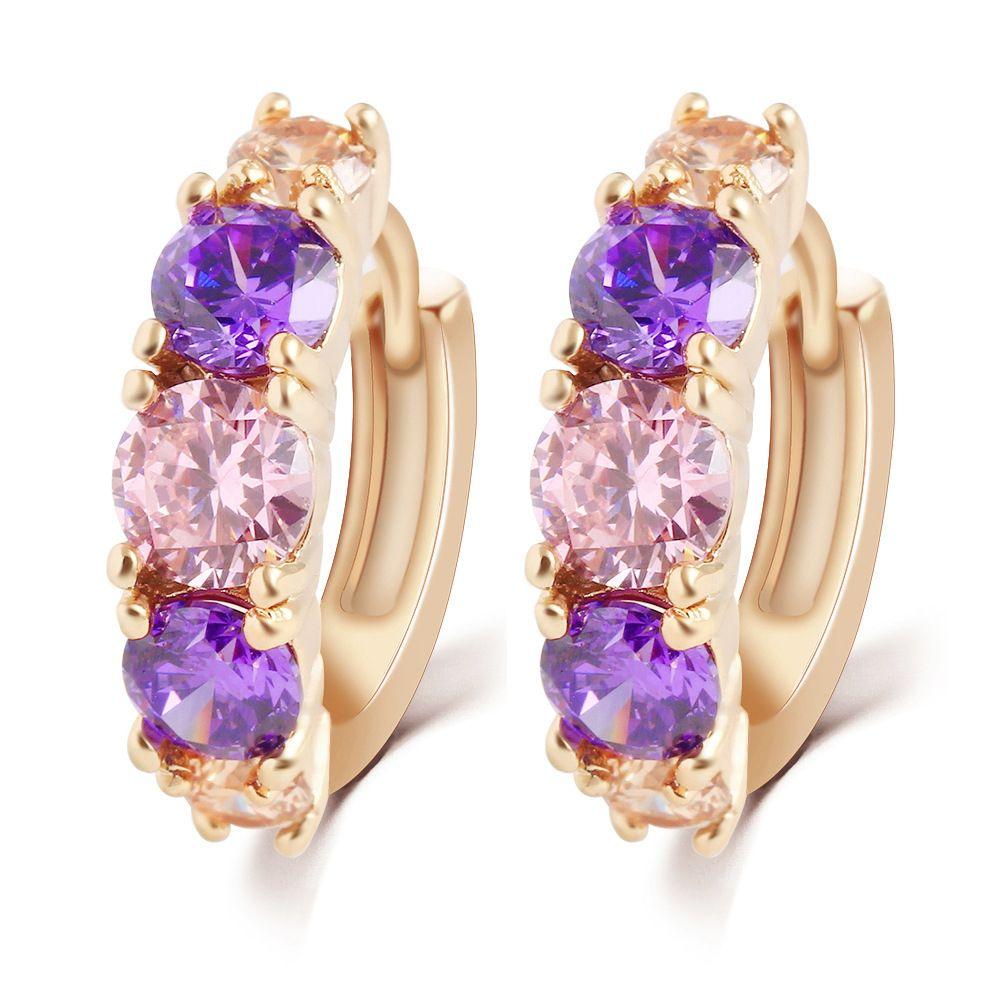 Taobao burst Japan and South Korea new earrings crystal zircon ...