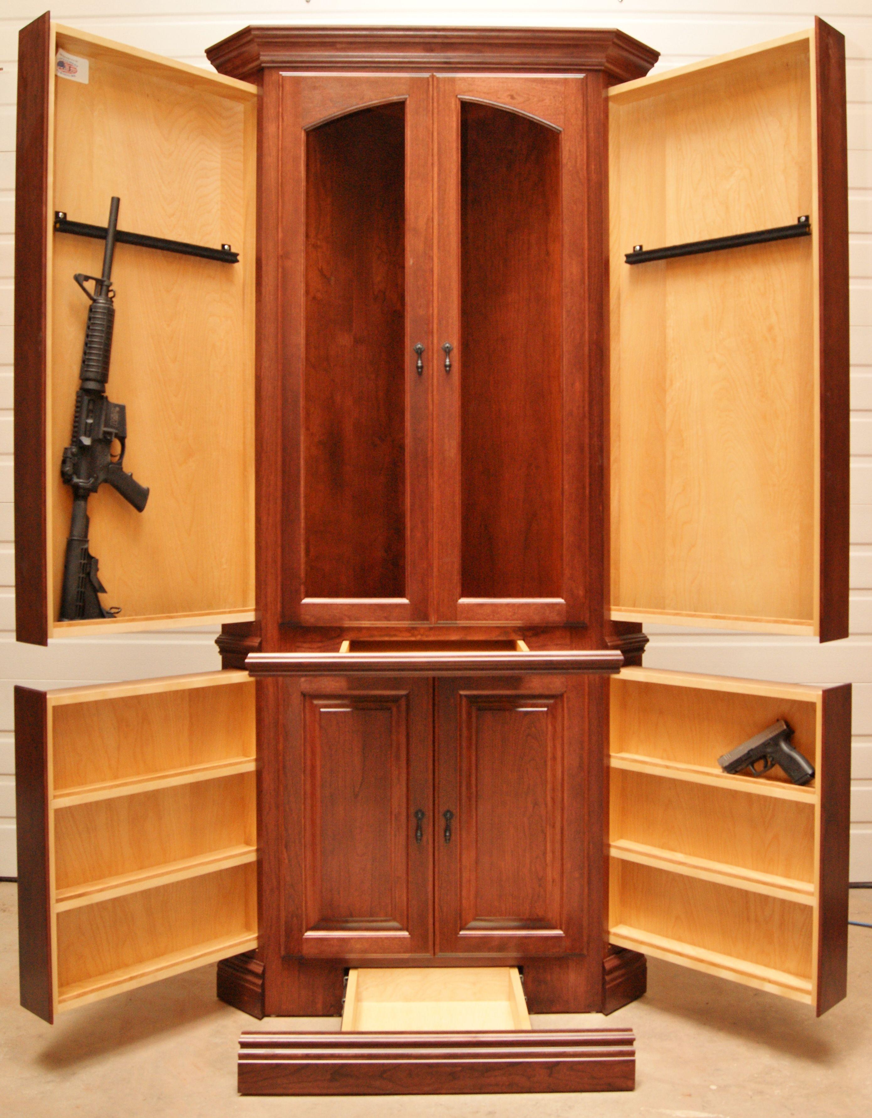 Charming Corner Hutch | NJ Concealment Furniture For Video: Https://www.facebook. Hidden  Gun StorageCorner ...