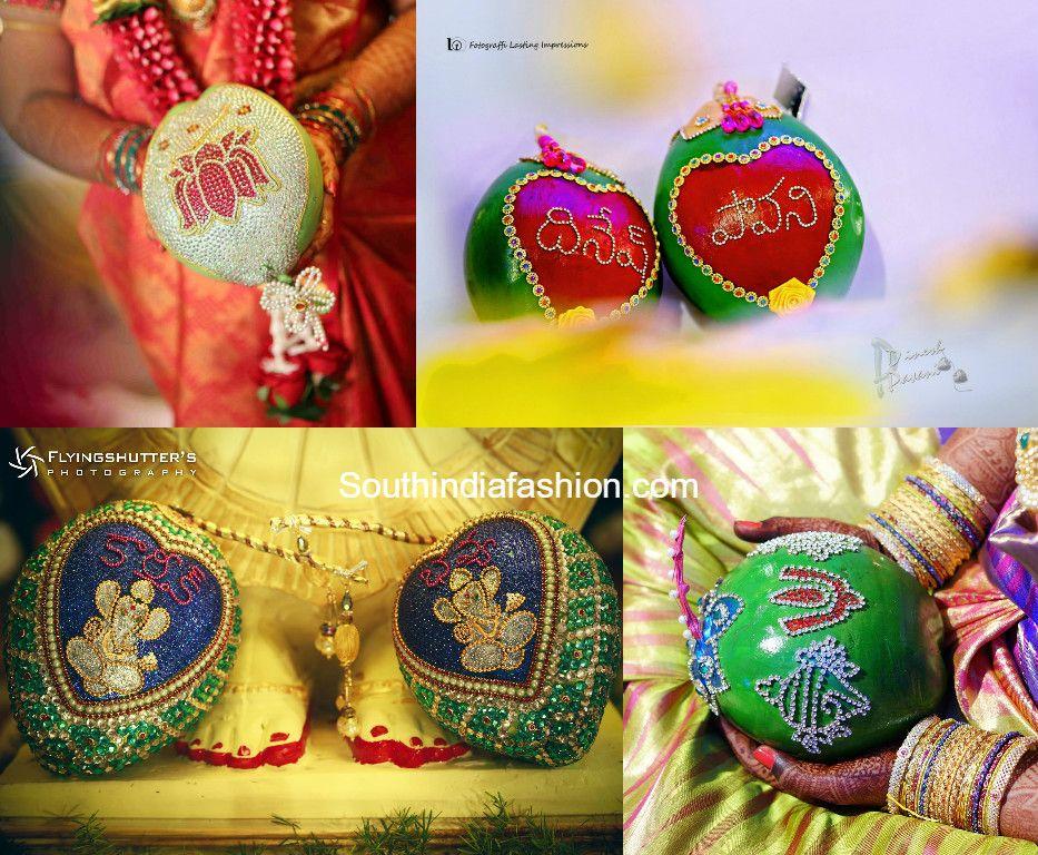 Pin by divya susarla on Telugu Wedding pieces | Coconut decoration