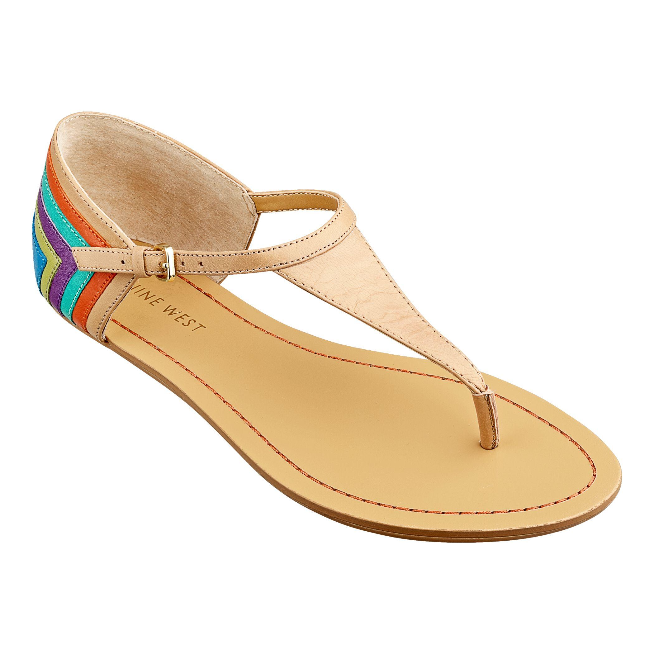 Sandalias planas de mujer Michael kors con tiras en piel de