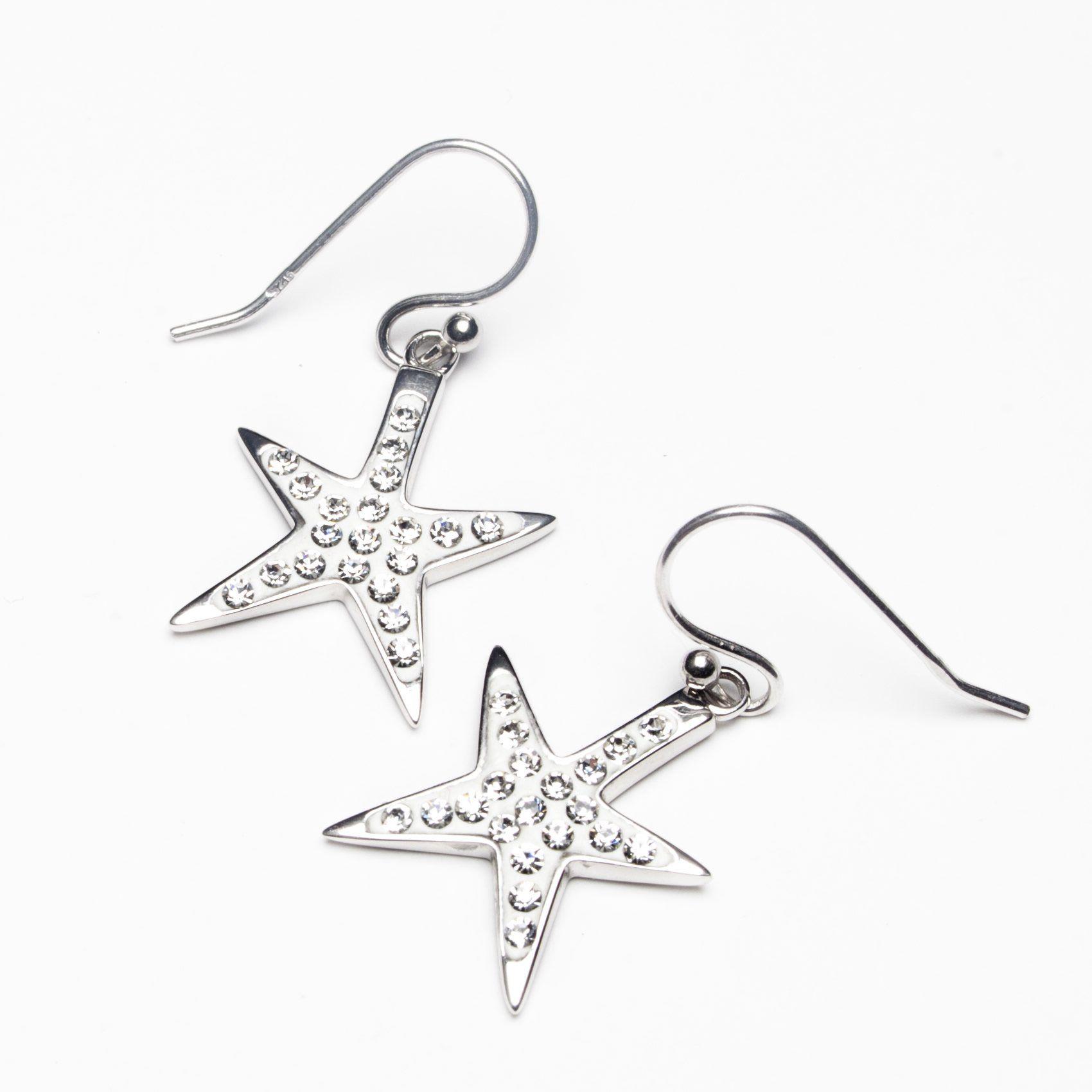 491afa4b1 Island Trinketz Starfish White Swarovski Crystal Earrings | Products ...