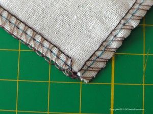 Serging outward Corners - and other videos