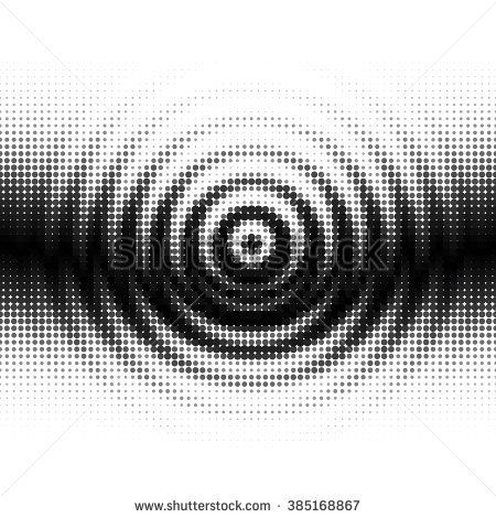 Black and White Gradient Seamless Background with Radial ...