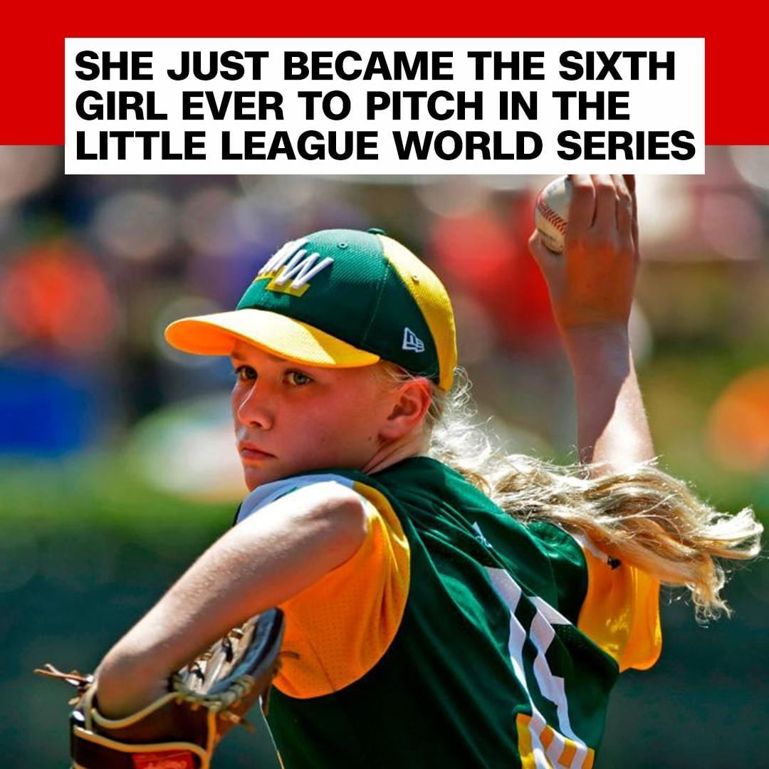 Maddy Freking S Team May Have Been Eliminated From The Little League Baseball World Series But Her S Little League Baseball World Series Little League Baseball