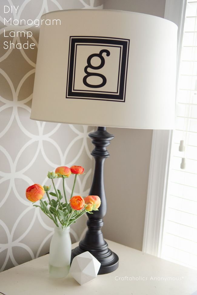 Easy monogram lampshade monograms awesome bedrooms and diy ideas easy monogram lampshade mozeypictures Image collections