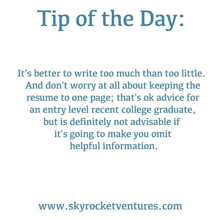 Tip of the Day in 2020 Tips, Job search tips, Resume tips