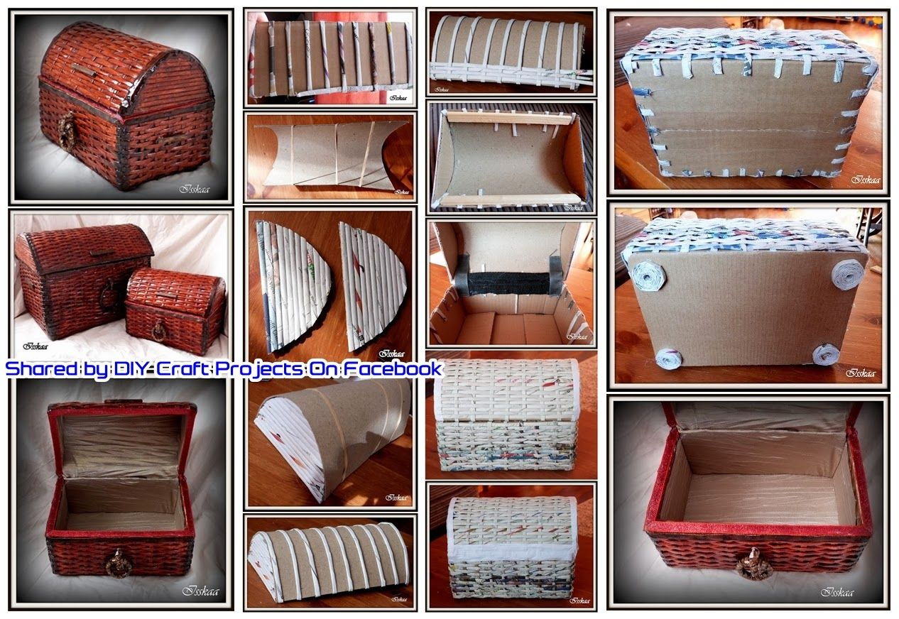 Diy Old Newspaper Box To Store Things You Love With Images Diy