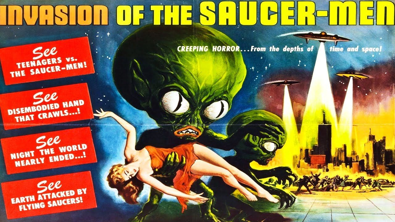 Invasion of the saucer men 1957 horror vintage movies