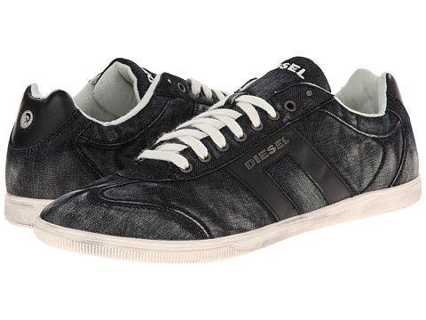 Diesel Sneakers Mens - Diesel Happy Hours Vintagy Lounge Black Dark Grey
