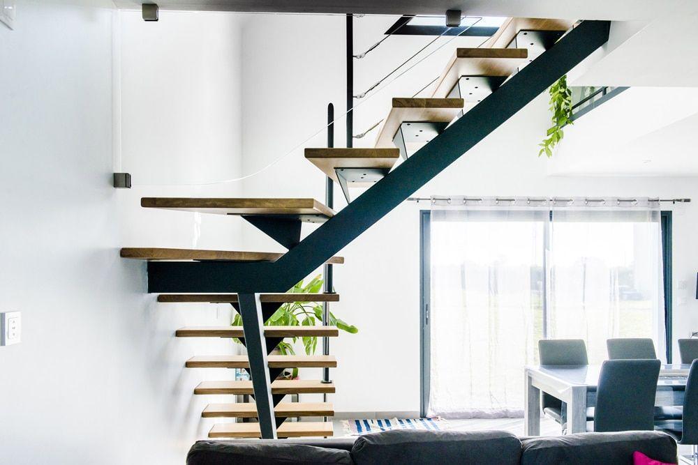 Escalier Metal Limon Central Escalier Escaliers Metal Type D