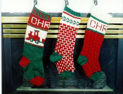 Knit Christmas Stockings   Knitted christmas stockings, Christmas ...