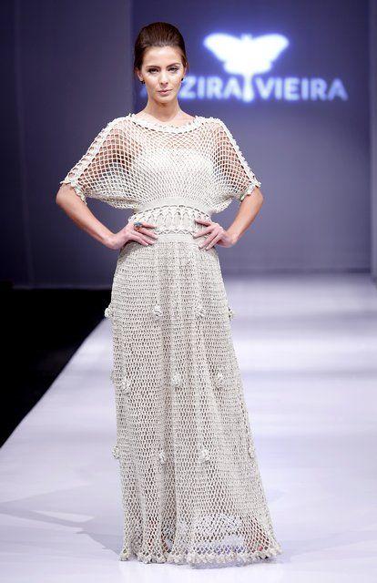 97909539d44 вязаные крючком платья бразильского дизайнера Алзиры Виейра ...