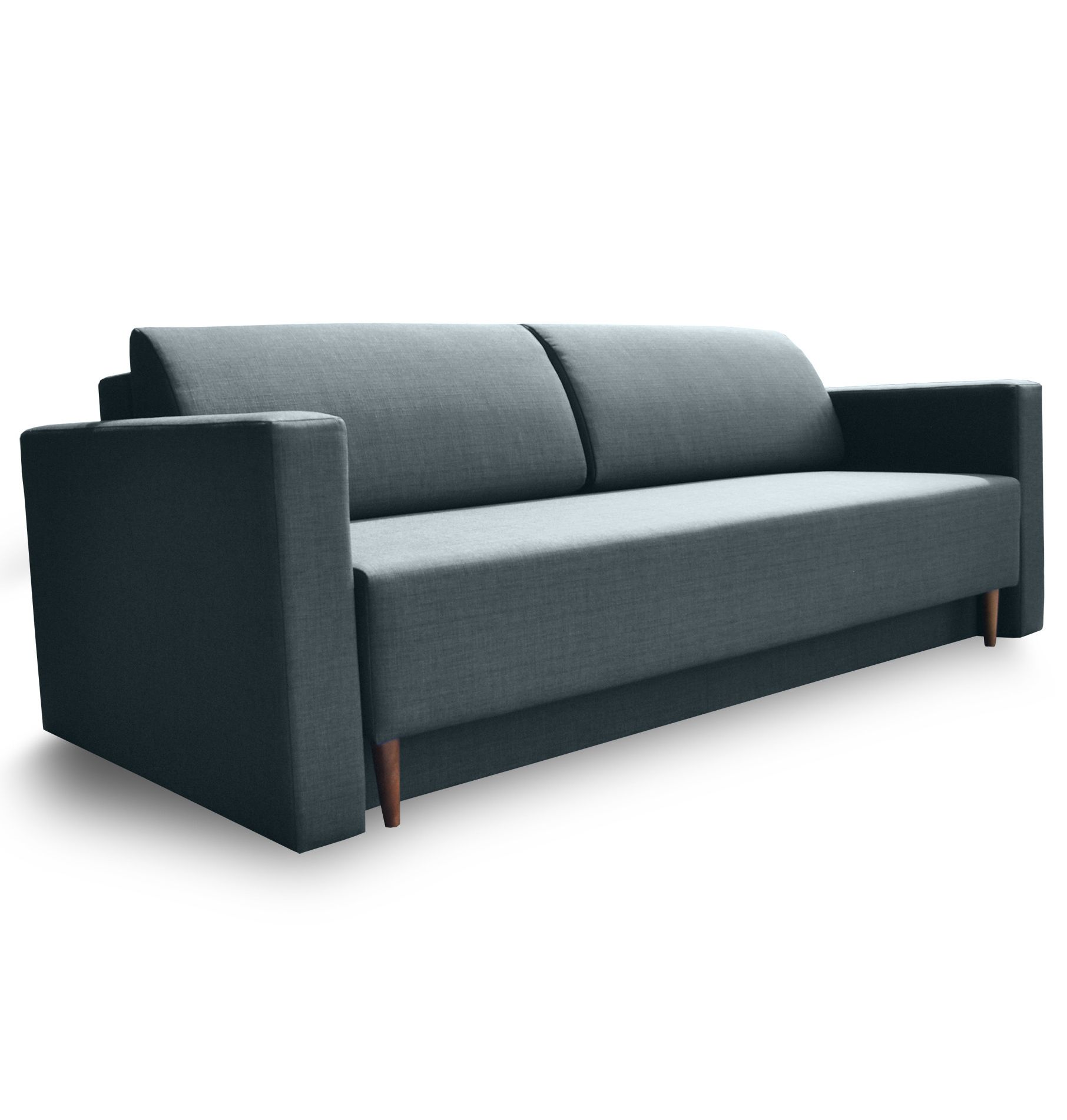 Dublin Mid Century Modern Sofa Bed In Denim Is A Minimalist Take On The Modern Couch It Accommodates A Practical Storage Space Un Stylish Sofa Beds Sofa