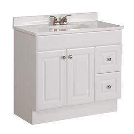 36 3 4 in x 18 7 8 in white integral single sink bathroom vanity rh pinterest com 36 x18 bathroom vanity 36 x 18 bathroom vanity cabinet