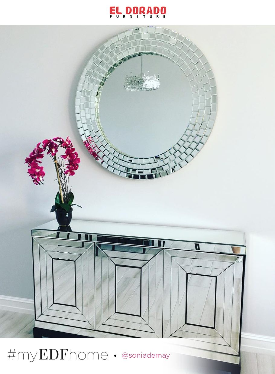 Myedfhome Welcoming Entryway Mirrored Furniture Mirror Cabinets Furniture