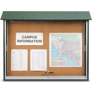 Outdoor Enclosed Bulletin Boards With Sliding Door Sliding Doors Cork Bulletin Boards Bulletin Boards
