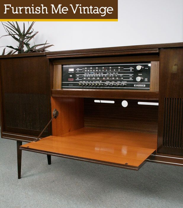 Retro 1960s Grundig Stereo Console | Furnish Me Vintage | Console ...