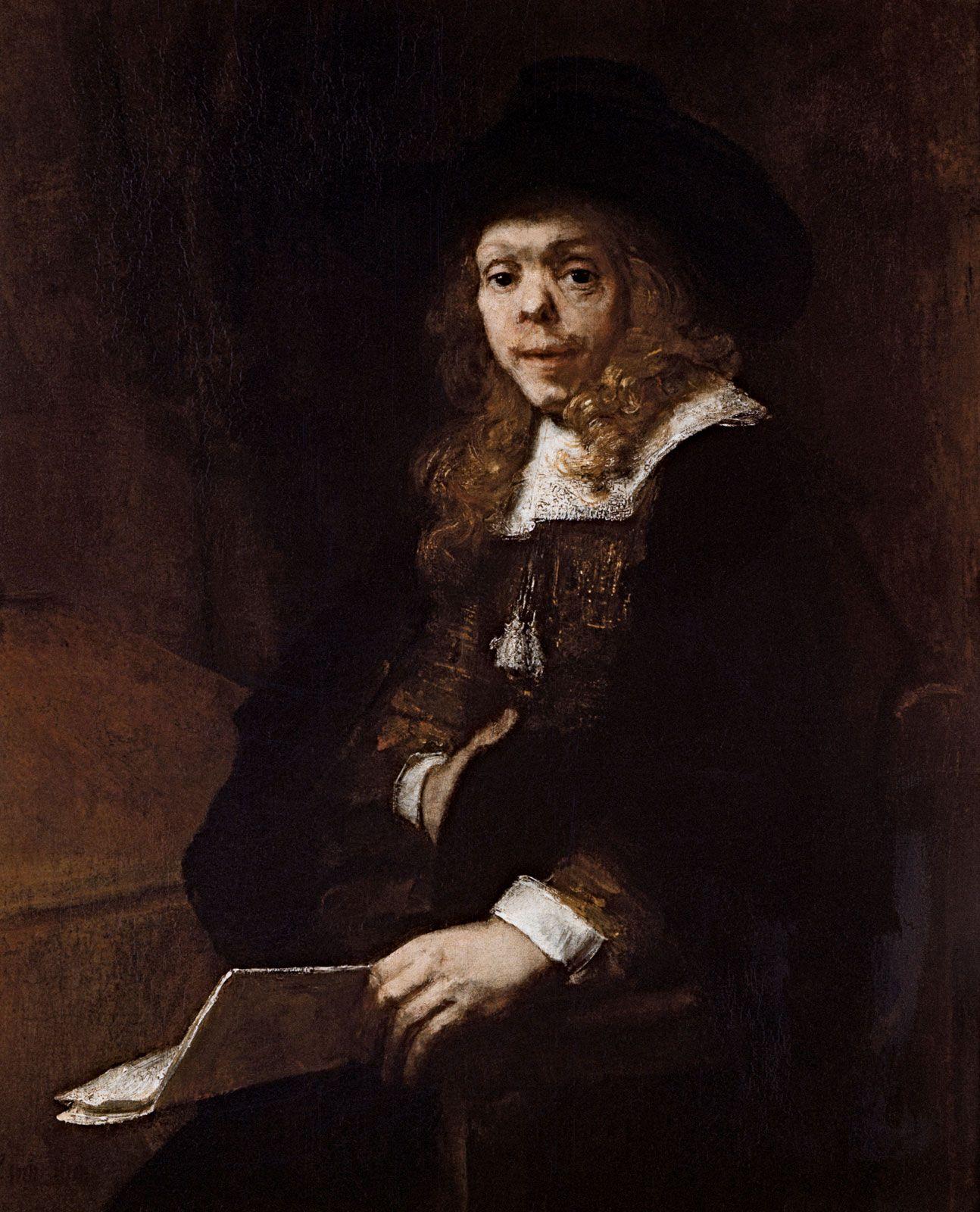 "Resultado de imagem para Rembrandt V an Rijn."" Portrait of Gérard de Lairesse"