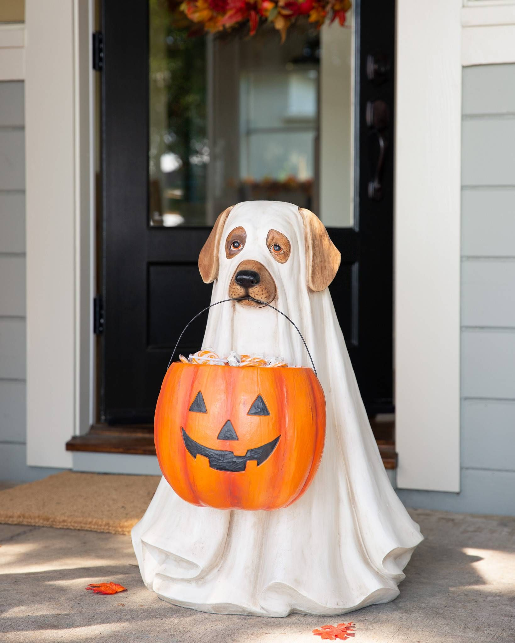 Outdoor LifeSize Ghost Dog Candy Bowl in 2020 Ghost dog