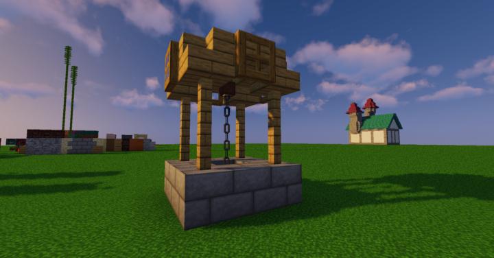 Simple Little Well By Asfifi Botcraft Net Minecraft Farm Minecraft Designs Minecraft House Tutorials