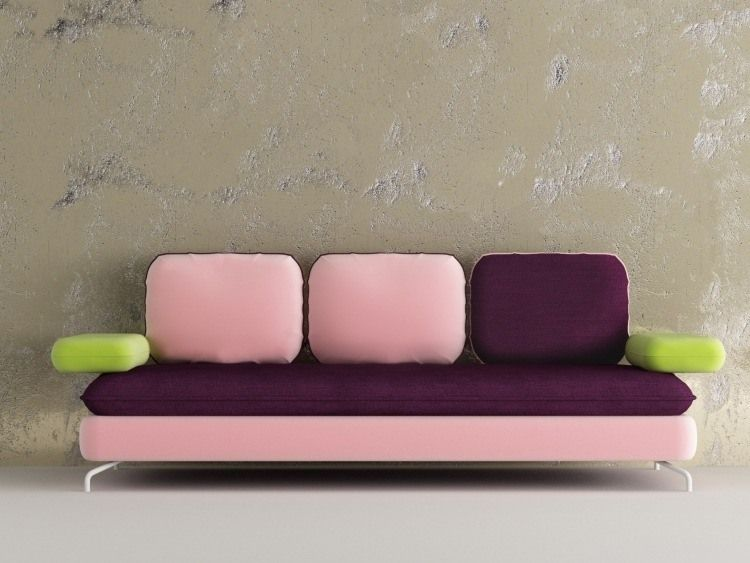meubles design italien par Matrix canapé droit 3 places en rose