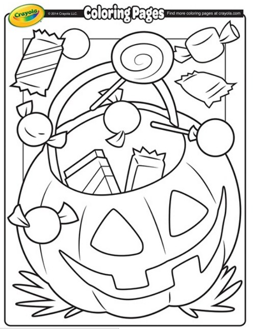 FREE Crayola Halloween Coloring Pages
