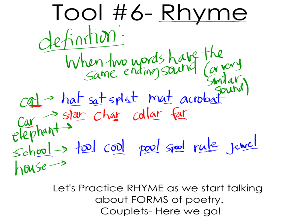 Tool 6 Rhyme and Form 1 Couplets (Post 9) Poetry
