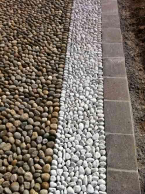 comment dcorer une alle de jardin avec des galets - Idees De Jardin Avec Des Galets