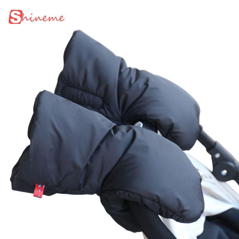 soft thick Glove for mum with Baby Stroller Warm Winter infant Essential Accessories Kids Toddler Pram Pushchair Car