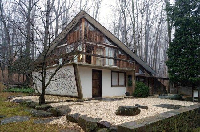 George Nakashima House, Studio and Workshop - huis van de kunstenaar en meubelmaker George Nahashima - in Solebury Township in Pennsylvania,...