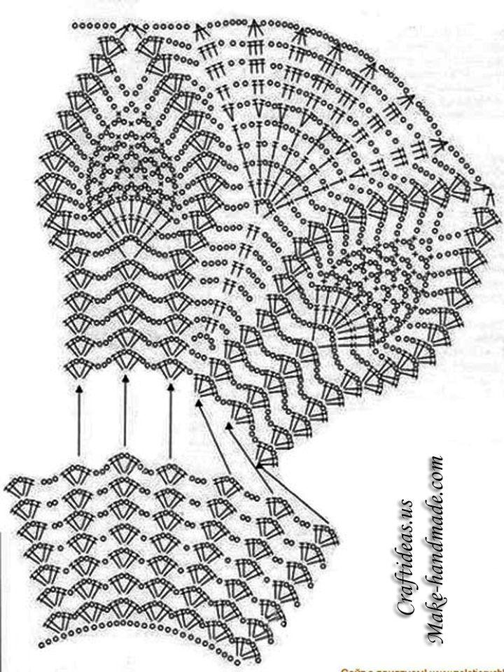 Crochet Easy Summer Crop Top For Beach Crochet Chart And Pattern