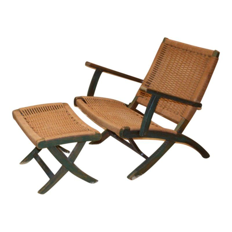 Wondrous 1970S Mid Century Modern Low Slung Folding Rope Chair Andrewgaddart Wooden Chair Designs For Living Room Andrewgaddartcom