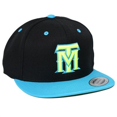 ac2d1ee024462 TobyMac TM logo embroidered in neon yellow on a black snapback flat billed  hat