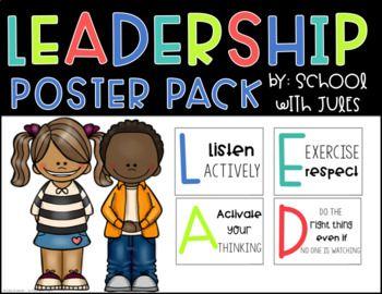 Leadership Poster Packet | Leadership, Preschool learning ...