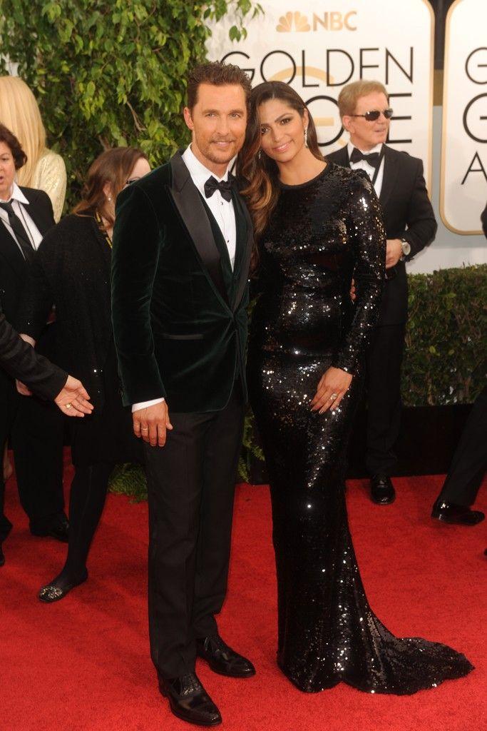 Matthew McConaughey in Dolce & Gabbana with Camila Alves. [Photo by Tyler Boye]