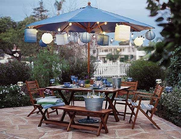 Bajo la sombrilla exteriores que enamoran pinterest - Sombrilla de terraza ...