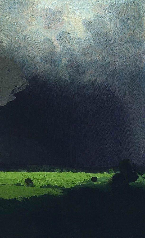 """After a Thunderstorm"", 1879,Arkhip Kuindzhi."