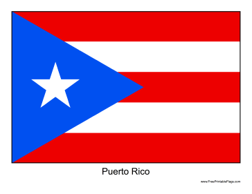 photograph regarding Printable Puerto Rican Flag referred to as The flag of Puerto Rico. Absolutely free towards down load and print Puerto