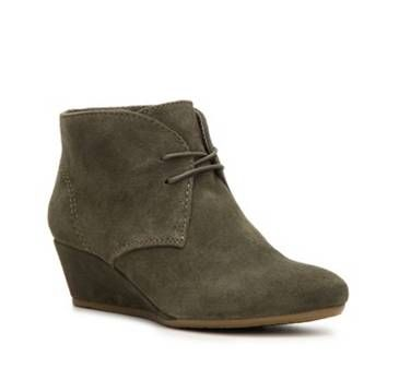 Nine West Lazona Wedge Bootie | DSW | in Olive size 7 or 7.5