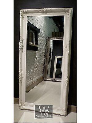 Orleans White Shabby Chic Leaner Ornate Floor Mirror 69 X 33 Large