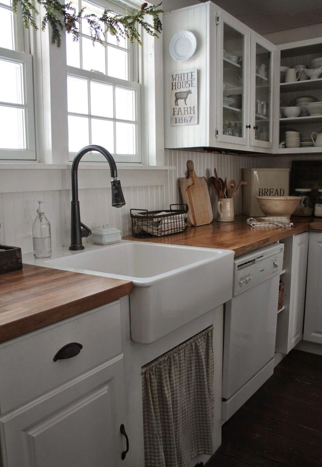 100+ Farmhouse Kitchen Design Ideas of Your Dreams | Casas pequeñas ...