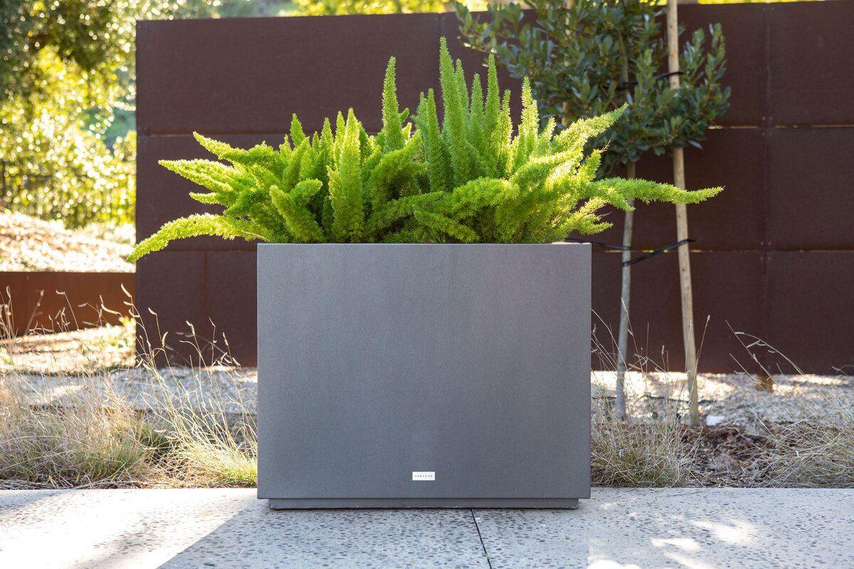 Metallic Series Galvanized Powder Coated Steel Planter Box With
