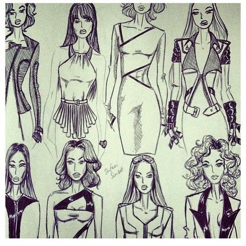 Random sketches by yours truly  #fashionIllustration #FashionSketch #FashionSketches #FashionDesign (Taken with Instagram)