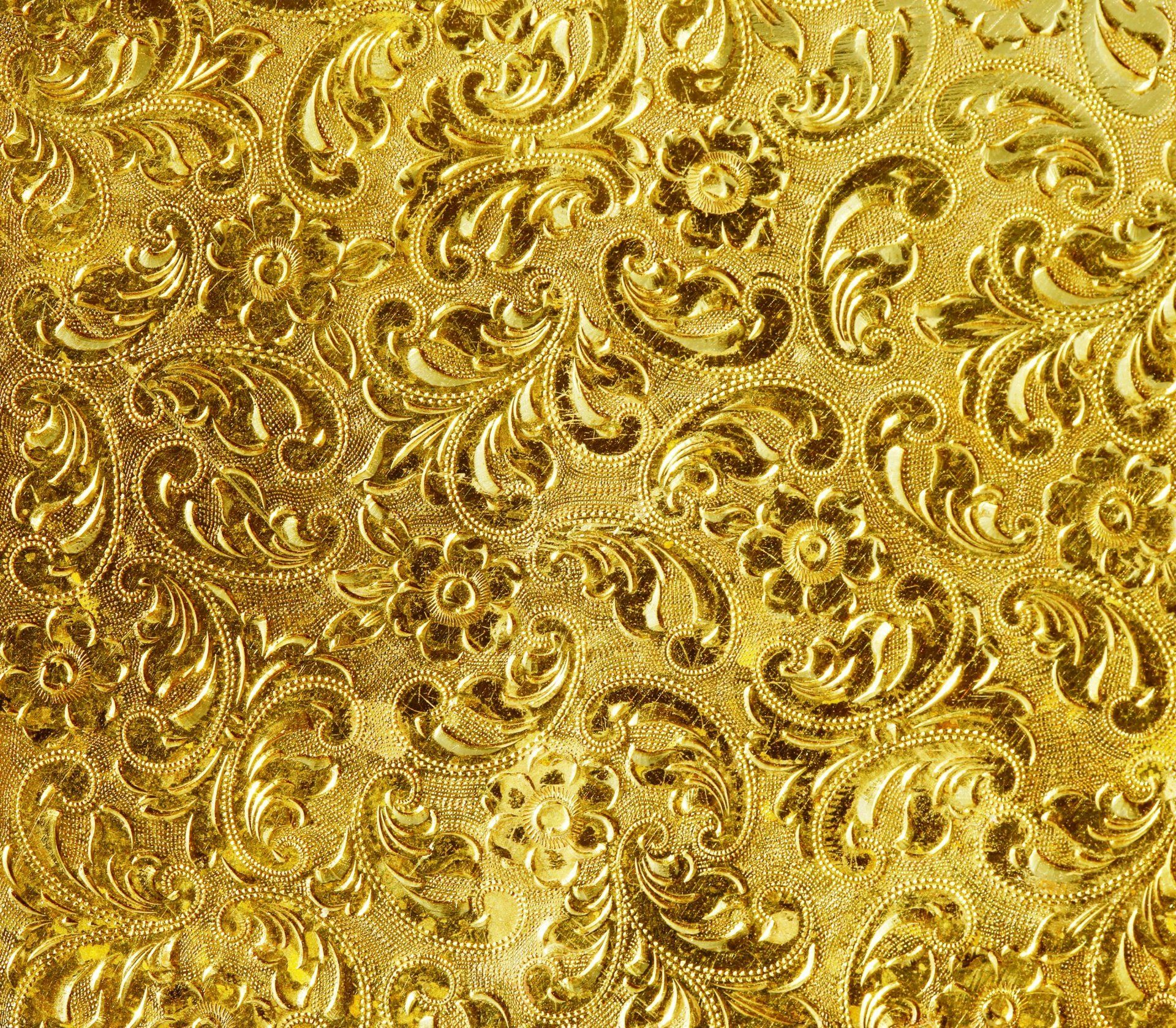 Golden Pattern Background Gold Pattern Background Textures