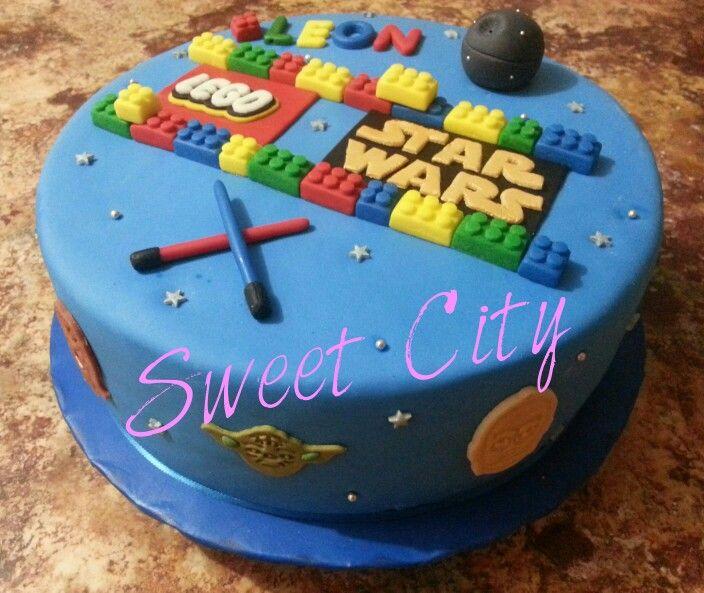 Star Wars Legos Cake Pastel Cumpleaos Pinterest Legos And Cake