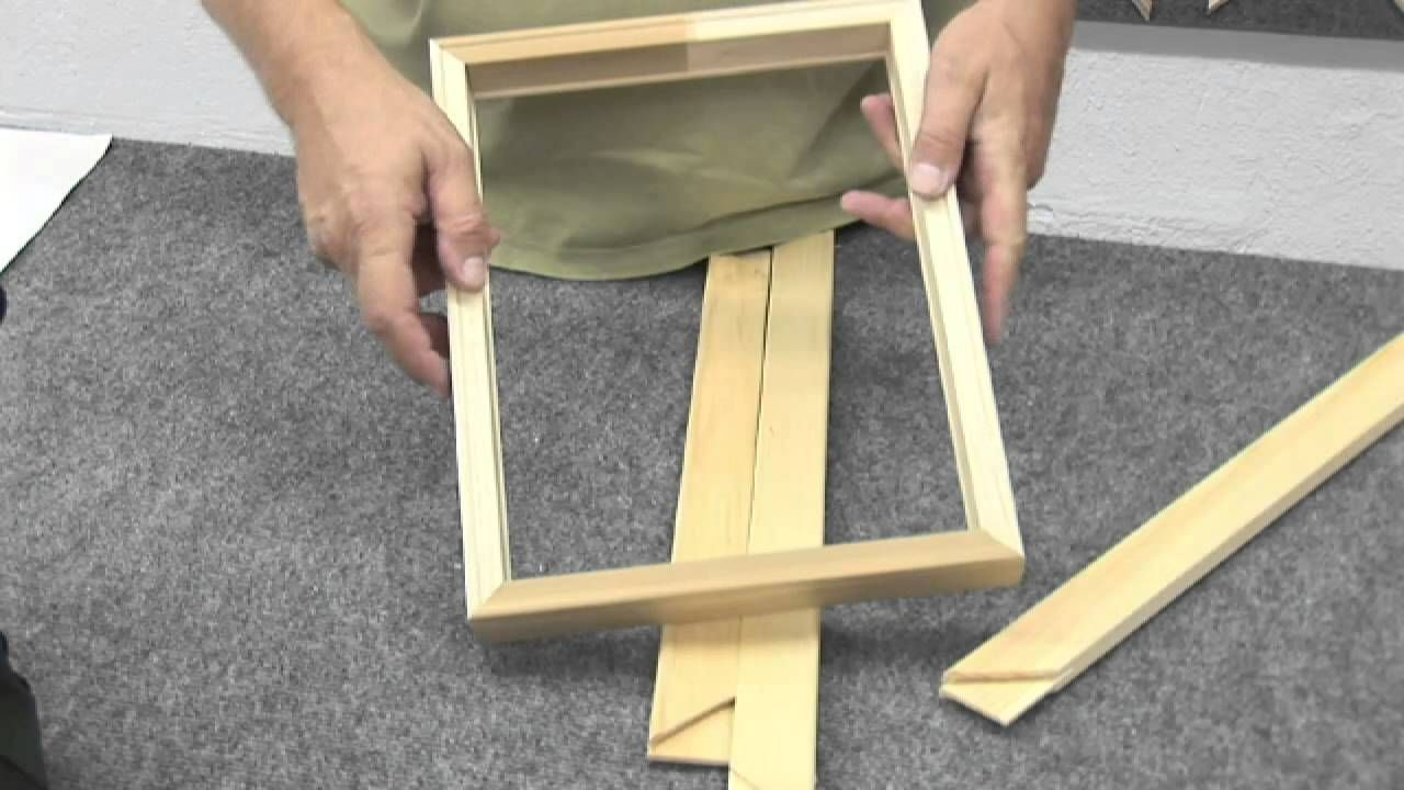 How to Make a Canvas Frame YouTube Canvas frame