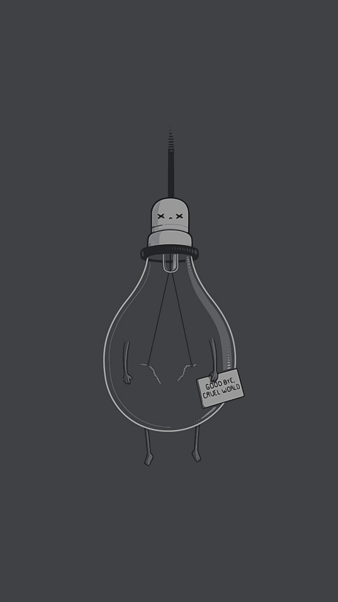 Simple humor lightbulb. Tap to see more simple Apple iPhone 6s Plus HD wallpapers, backgrounds, fondos. Minimal pattern shapes - @mobile9