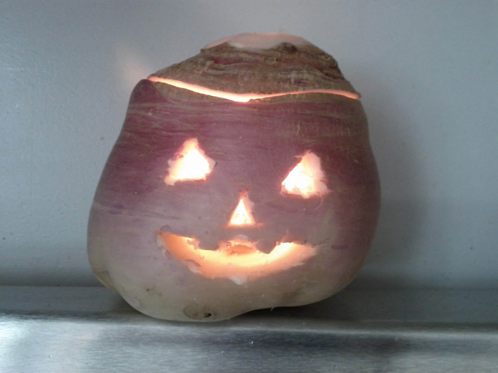Carving a Turnip JackOLantern Living the Rustic Life