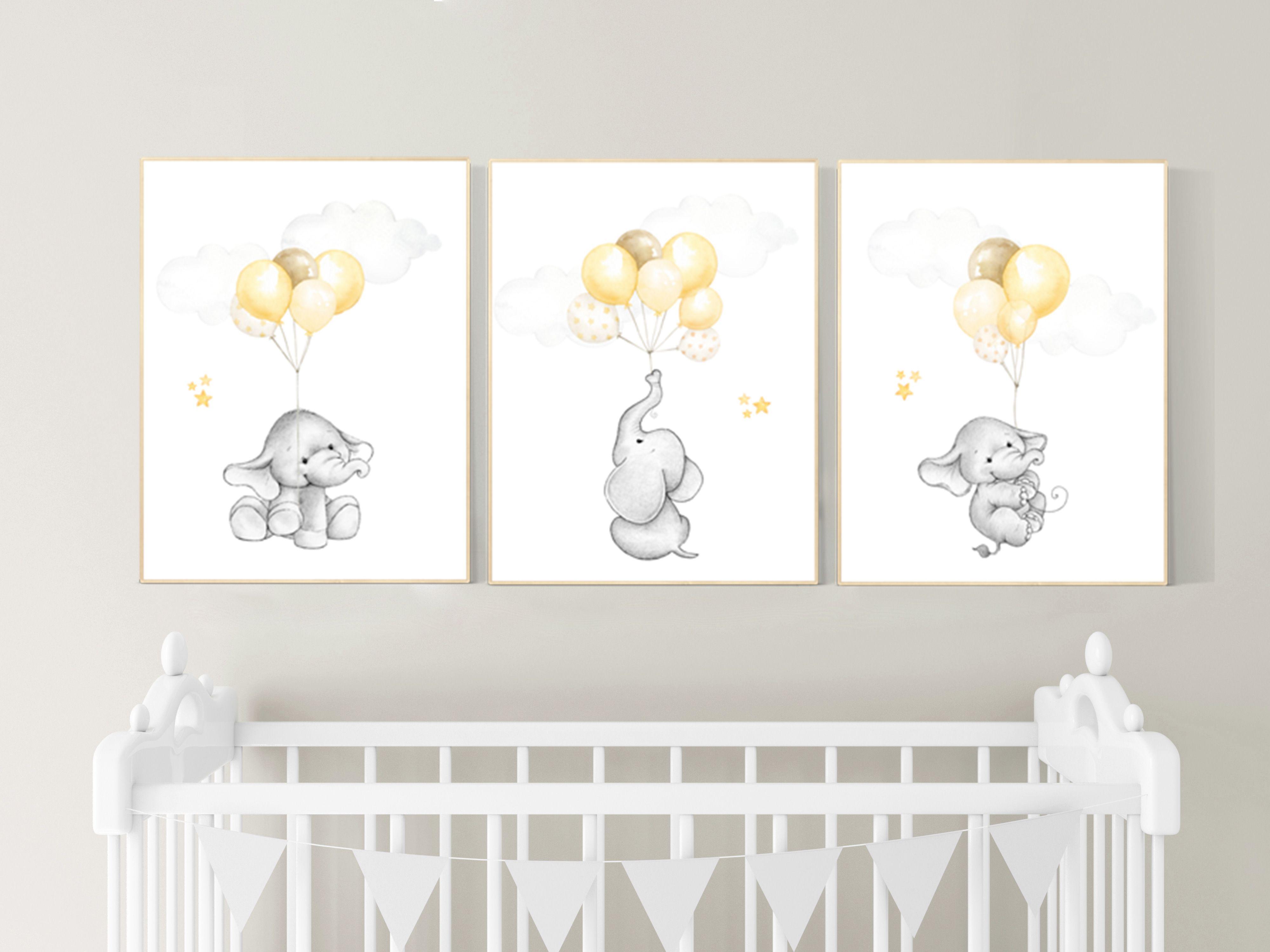 Gender Neutral Nursery Wall Art Yellow